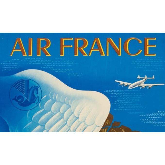 Affiche ancienne de voyage - Lucien Boucher - 1950 - Air France Amérique Du Sud - 99 par 61 cm - 2