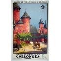 Affiche Collonges corrèze chemin de fer de Paris à Orléans. Elbé Paris.