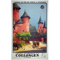 Original french poster Collonges corrèze south western France. Elbé Paris.