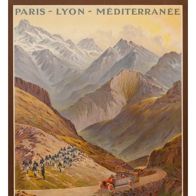Affiche ancienne de voyage - Emanuel Brun - 1912 - Route Du Col De Vars - 108.5 par 78.5 cm - 2