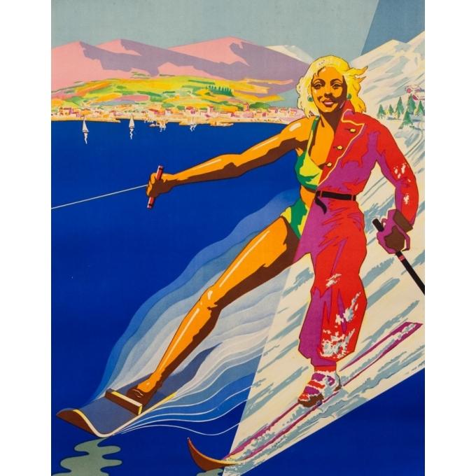 Affiche ancienne de voyage - Eter - Circa 1950 - Côte D'Azur Corse - 99 par 61 cm - 2