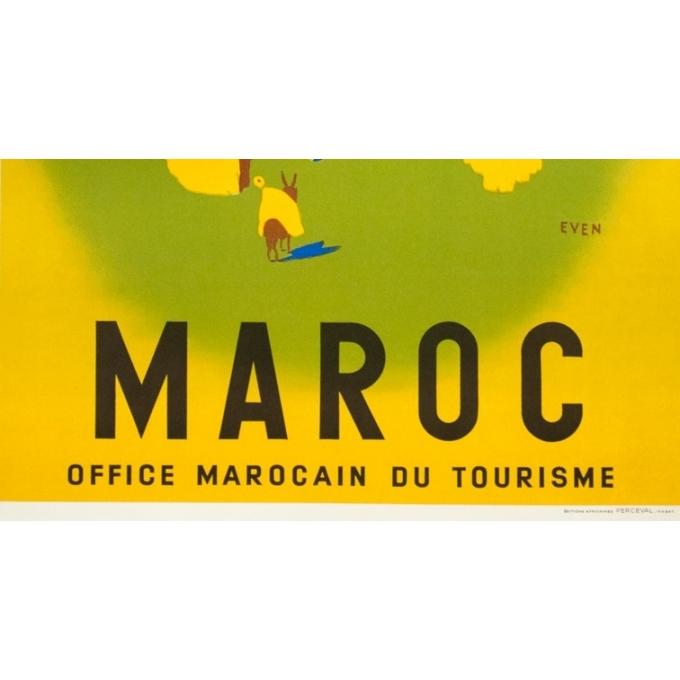 Affiche ancienne de voyage - Even - Circa 1950 - Maroc Office Marocain Du Tourisme - 101 par 62 cm - 3