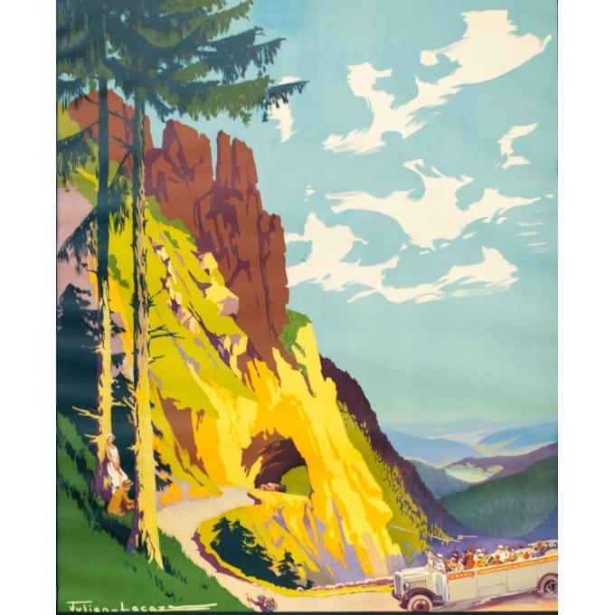 Affiche ancienne de voyage - Julien Lacaze - Circa 1920 - La Route Des Vosges - 100 par 63 cm - 2