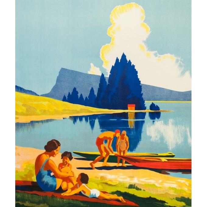 Affiche ancienne de voyage - Anonyme - Circa 1930 - Vallée De Joux Suisse - 100 par 70 cm - 2