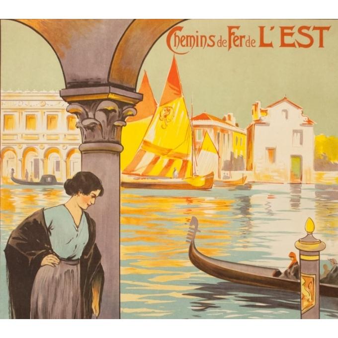 Affiche ancienne de voyage - E.Louis Lessieux - Circa 1920 - Venise - 105 par 75 cm - 2