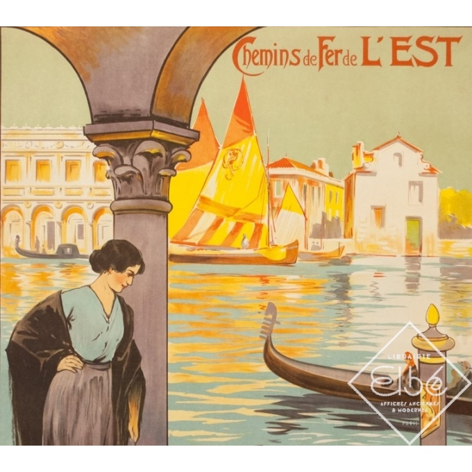 Vintage travel poster - E.Louis Lessieux - Circa 1920 - Venise - 41.3 by 29.5 inches - 2