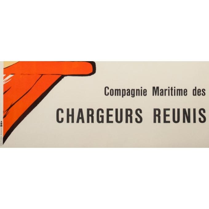 Affiche ancienne de voyage - Gruau - Circa 1950 - Relax Chargeurs Réunis - 98 par 63 cm - 3