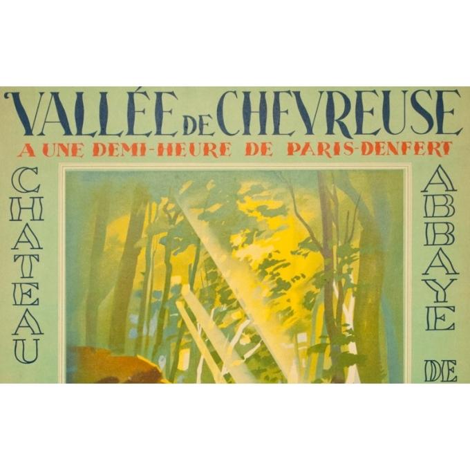 Affiche ancienne originale - Falcucci - 1939 - La Vallée De Chevreuse - 100 par 62.5 cm - 2