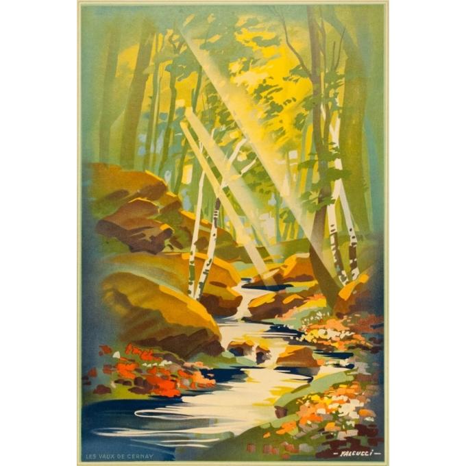 Vintage poster - Falcucci - 1939 - La Vallée De Chevreuse - 39.4 by 24.6 inches - 3