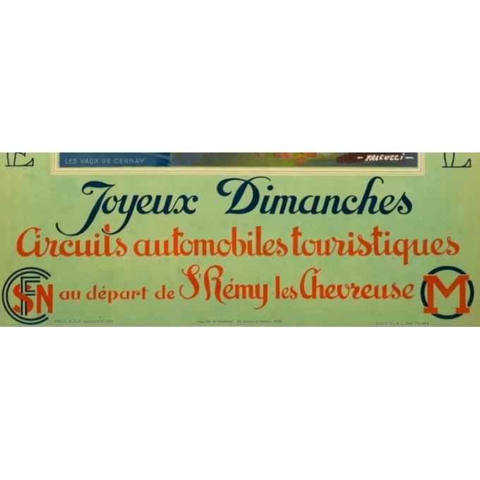 Affiche ancienne originale - Falcucci - 1939 - La Vallée De Chevreuse - 100 par 62.5 cm - 4