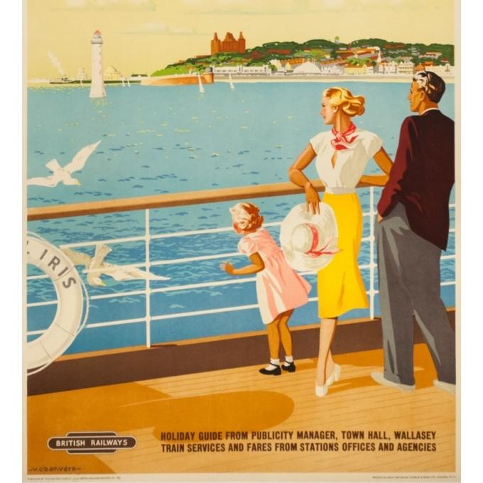 Affiche ancienne de voyage - V.L Danvers - Circa 1950 - New Brighton - 103 par 63 cm - 3