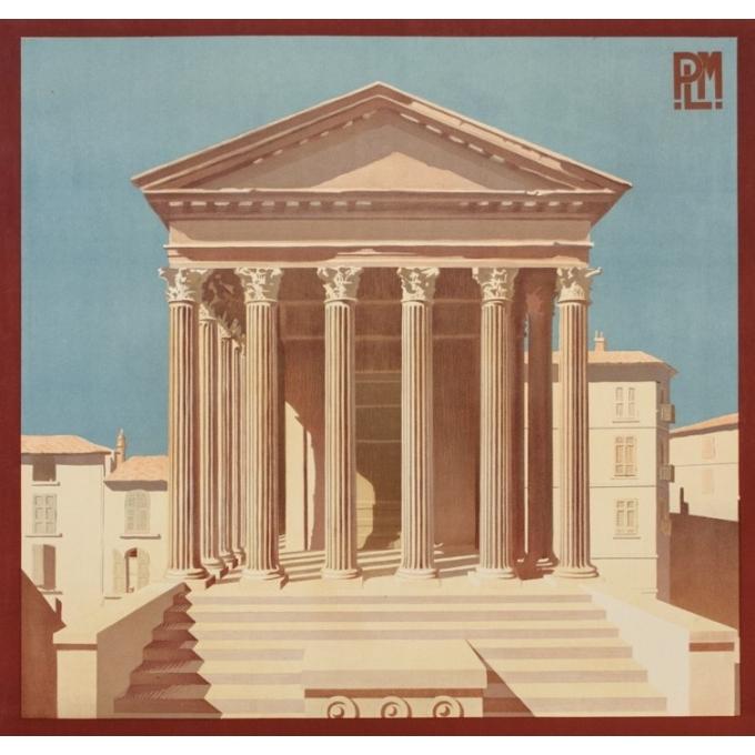Affiche ancienne de voyage - H.Léty - Circa 1920 - Vienne Sur Le Rhone - 108 par 79 cm - 2