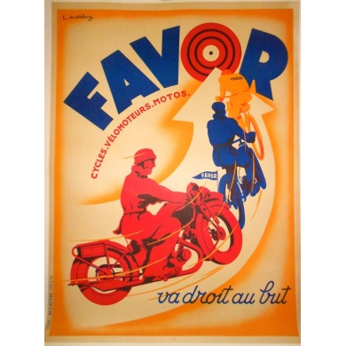 Original french poster Favor. Elbé Paris.