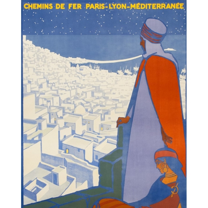 Vintage travel poster - Rogers Broders - 1920 - Alger La Ville Blanche - 42.5 by 30.3 inches - 2