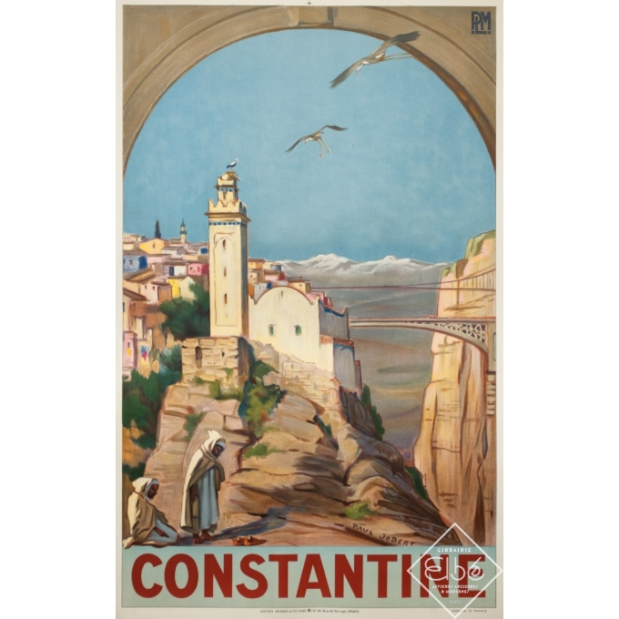 Vintage travel poster - Paul Jobert - 1926 - Constantine - 39.4 by 24.4 inches