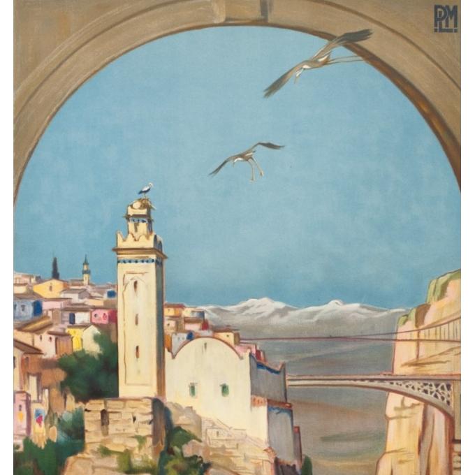 Affiche ancienne de voyage - Paul Jobert - 1926 - Constantine - 100 par 62 cm - 2