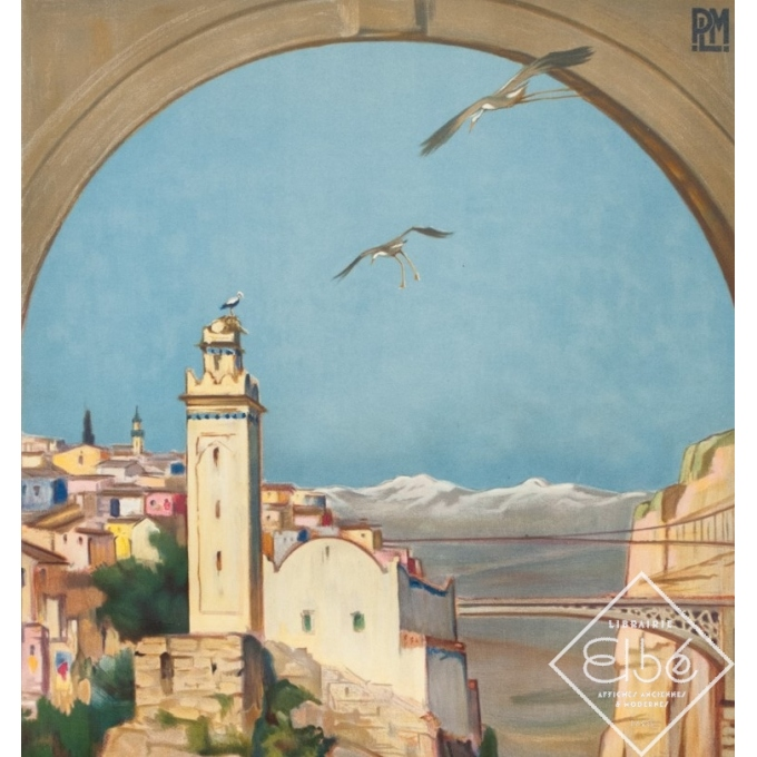 Vintage travel poster - Paul Jobert - 1926 - Constantine - 39.4 by 24.4 inches - 2
