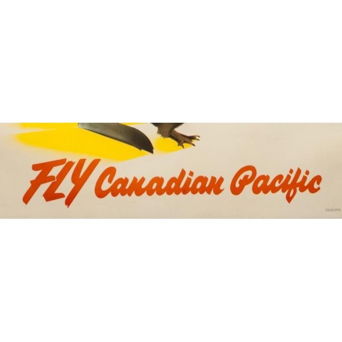 Affiche ancienne de voyage - Anonyme - Circa 1950 - Australia New Zeland Fly Canadian Pacific - 90 par 61 cm - 3