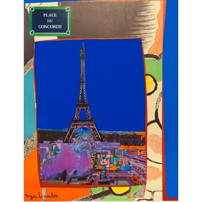 Affiche ancienne de voyage - Bezombes - 1981 - Air France Europe France - 100 par 60 cm - 2