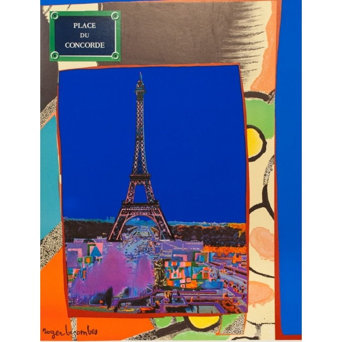 Vintage travel poster - Bezombes - 1981 - Air France Europe France - 39.4 by 23.6 inches - 2