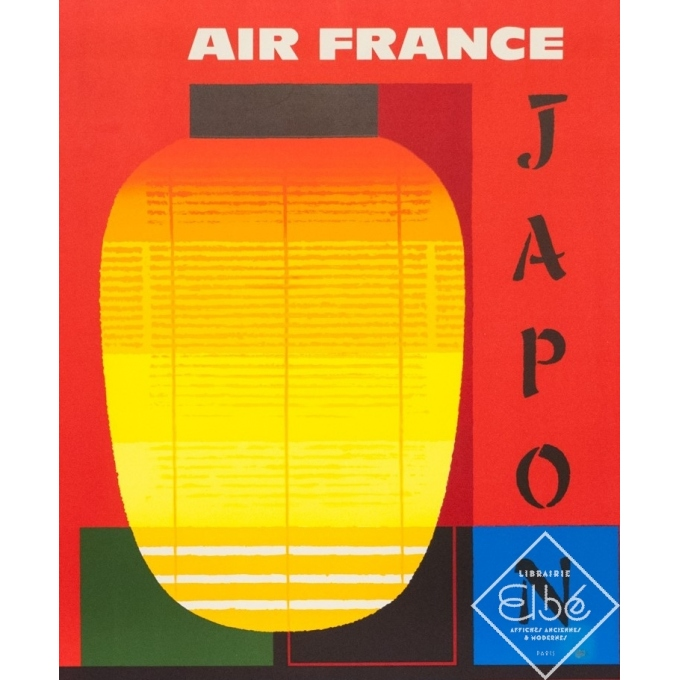 Affiche ancienne de voyage - Nathan - 1964 - Air France Japon - 99.5 par 62.5 cm - 2