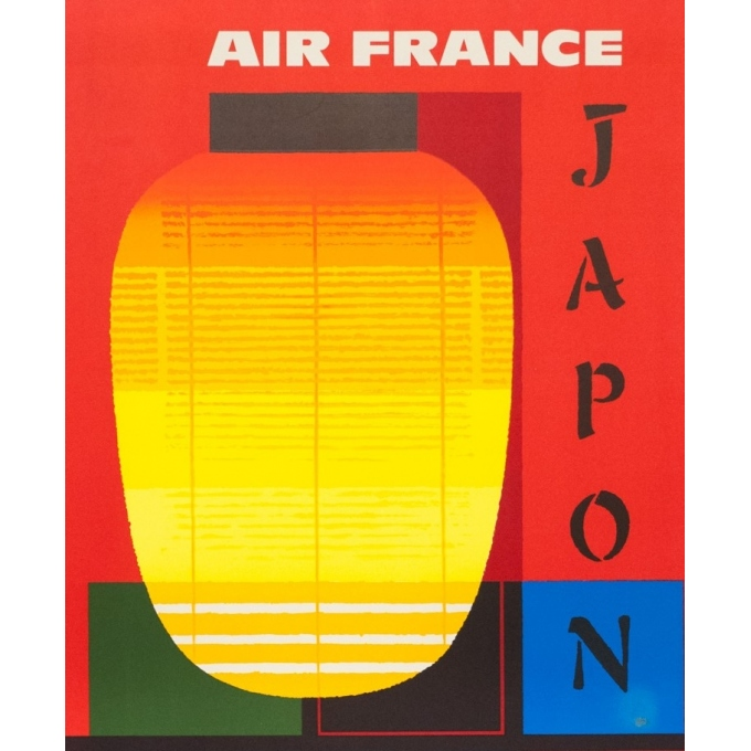 Vintage travel poster - Nathan - 1964 - Air France Japon - 39.2 by 24.6 inches - 2