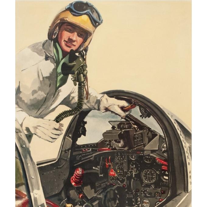 Affiche ancienne - Delfo - Circa 1955 - Armée De L'Air - 99.5 par 61.5 cm - 2