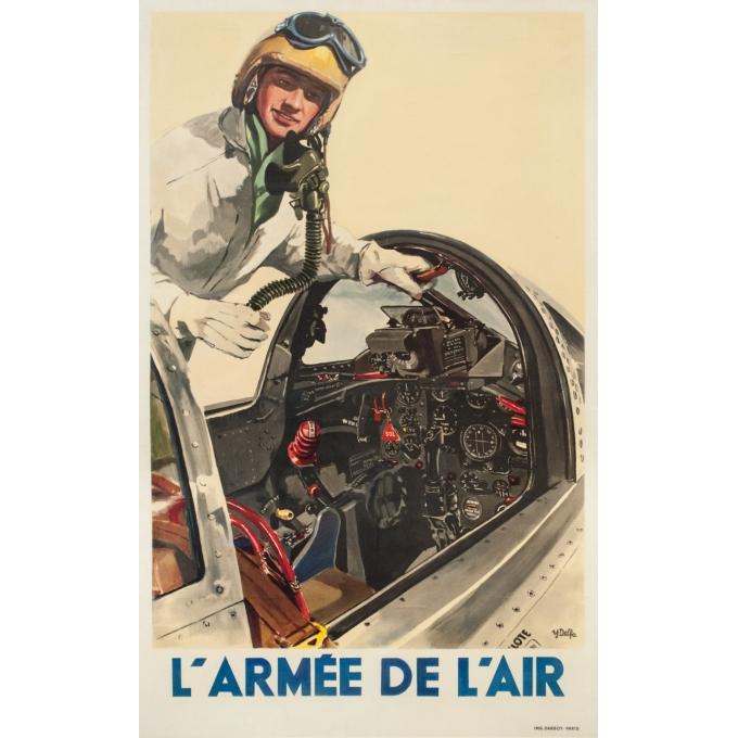 Affiche ancienne - Delfo - Circa 1955 - Armée De L'Air - 99.5 par 61.5 cm