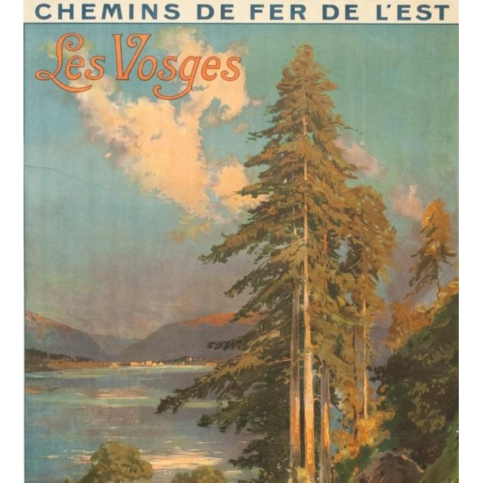 Vintage travel poster - Louis Tauzin - Circa 1910 - Gerardmer Les Vosges - 41.1 by 29.1 inches - 2