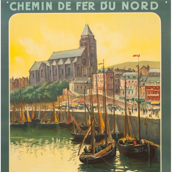 Vintage travel poster - Hallo - Circa 1920 - Le Tréport - 41.3 by 29.5 inches - 2
