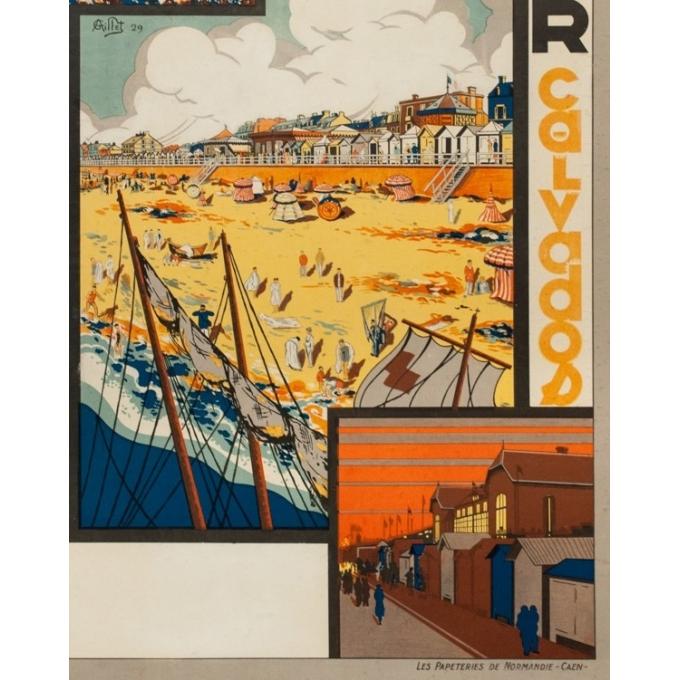 Affiche ancienne de voyage - G. Aillet - 1929 - Luc Sur Mer Calvados Normandie - 105.5 par 73 cm - 3