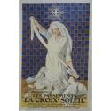 Affiche ancienne de publicité pour les pansements La Croix-Soleil. Elbé Paris.