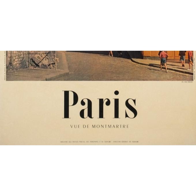 Vintage travel poster - Rieder - Circa 1960 - Air France Paris Vue De Montmartre - 39 by 24.4 inches - 3