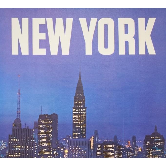 Affiche ancienne de voyage - Anonyme - 1960 - New York North West Air Lines - 102 par 63 cm - 2