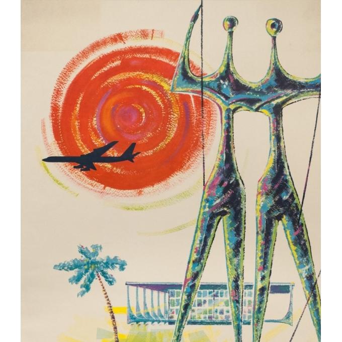 Affiche ancienne de voyage - Drescher - 1960 - Amérique Du Sud Panair - 99.5 par 63.5 cm - 2