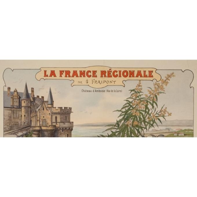 Vintage travel poster - Gustave Fraipont - Circa 1900 - France Régionale Auvergne Centre Loire - 30.3 by 22 inches - 2