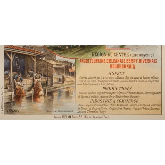 Vintage travel poster - Gustave Fraipont - Circa 1900 - France Régionale Auvergne Centre Loire - 30.3 by 22 inches - 4