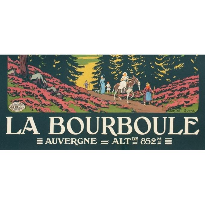 Vintage travel poster - Constant Duval - Circa 1920 - La Bourboule Auvergne Chemins de Fer d'Orléans - 41.1 by 29.5 inches - 3