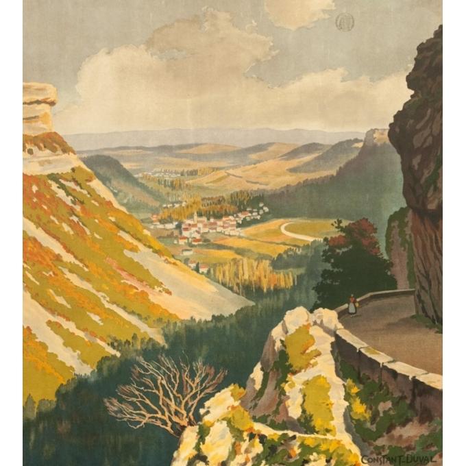 Vintage travel poster - Constant Duval - 1924 - Vallon D'Autoire Quercy Lot - 40 by 28.1 inches - 2