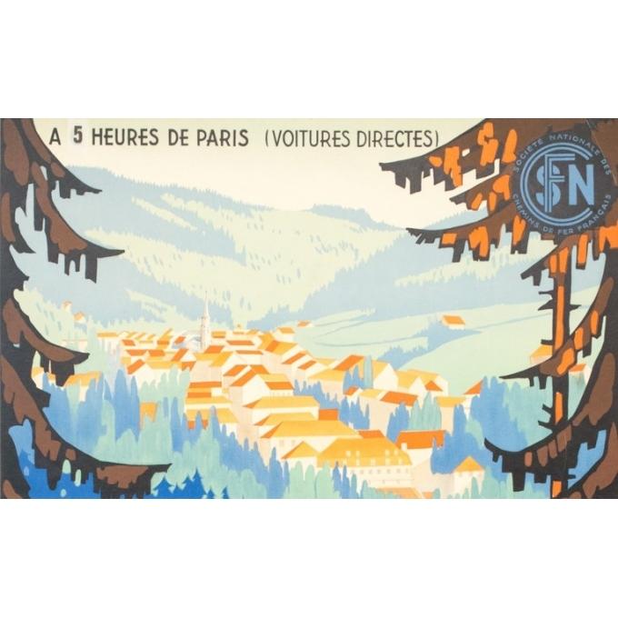 Affiche ancienne de voyage - Sénéchal - 1939 - Plombières Les Bains - 100 par 61 cm - 2