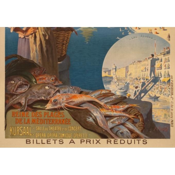 Affiche ancienne de voyage - Roussy - Circa 1910 - Cette Sètes Languedoc PLM - 106.5 par 75 cm - 3