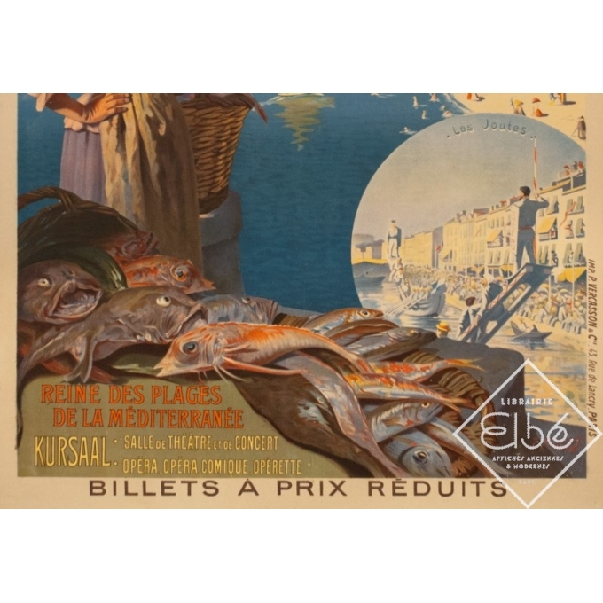 Vintage travel poster - Roussy - Circa 1910 - Cette Sètes Languedoc PLM - 41.9 by 29.5 inches - 3