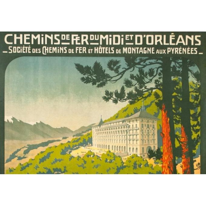 Affiche ancienne de voyage - Henri Germa - Circa 1910 - Font Romeu Pyrénées - 107 par 76.5 cm - 2
