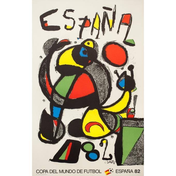 Vintage advertising poster - Miro - 1982 - Espana 1982 - Copa del Mundo de Futbol Spain - 40.2 by 23.6 inches