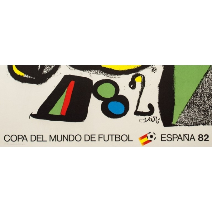 Affiche ancienne de publicité - Miro - 1982 - Coupe du Monde de Football - 102 par 60 cm - 3