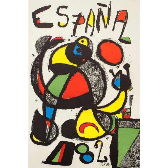 Vintage advertising poster - Miro - 1982 - Espana 1982 - Copa del Mundo de Futbol Spain - 40.2 by 23.6 inches - 2