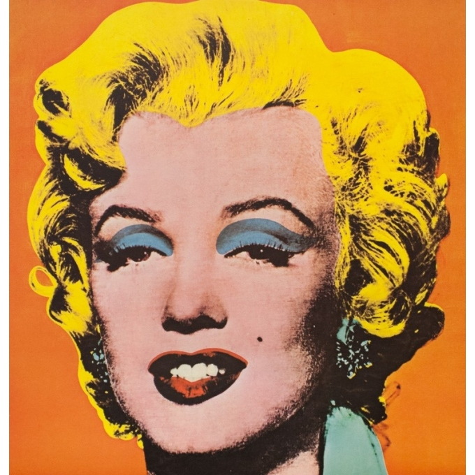 Vintage exhibition poster - Andy Warhol - 1968 - Marylin Monroe Pop Art 1968 1969 - 33.1 by 24.8 inches - 2