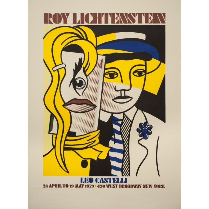 Affiche ancienne d'exposition - Roy Lichtenstein - 1979 - Roy Lichtenstein - 90 par 66 cm