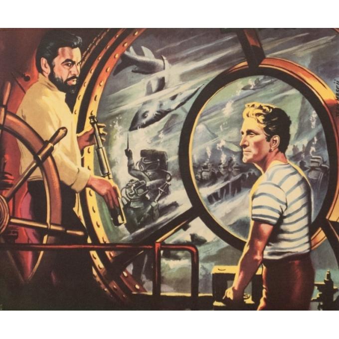 Affiche ancienne de cinéma - Jean Mascii - 1954 - 20000 Lieues Sous Les Mers Jules Verne France - 77 par 57 cm - 2
