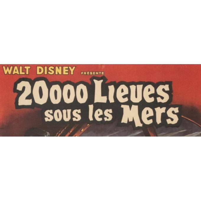 Affiche ancienne de cinéma - Jean Mascii - 1954 - 20000 Lieues Sous Les Mers Jules Verne France - 77 par 57 cm - 3